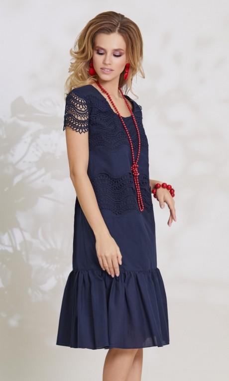 Летние платья Vittoria Queen 7793 синий