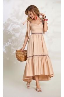 Длинные платья, платья в пол Vittoria Queen 8493 песок фото 1