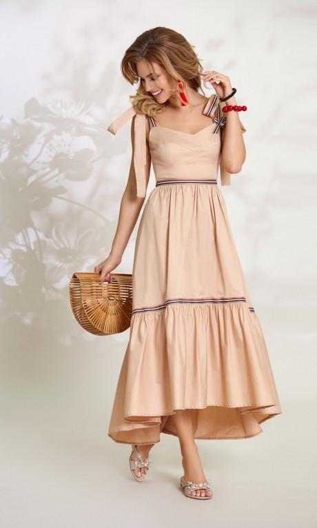Длинные платья, платья в пол Vittoria Queen 8493 песок