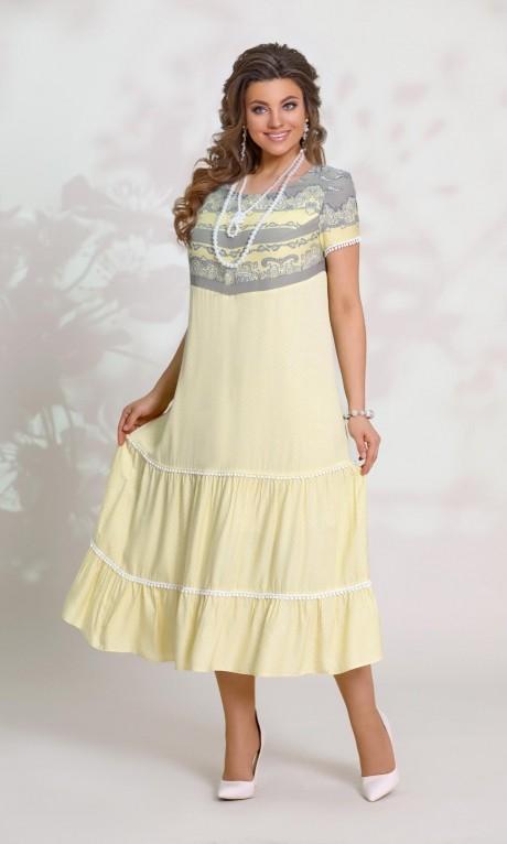 Летние платья Vittoria Queen 8553 -1 желтый