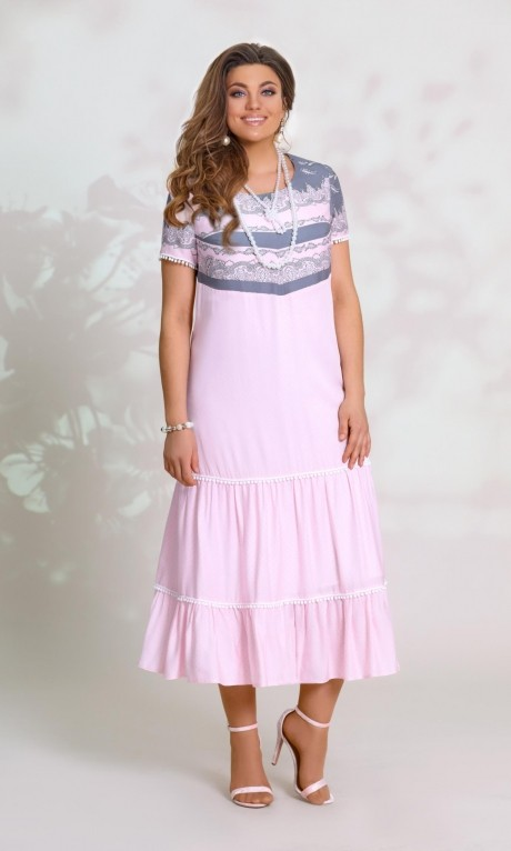 Летние платья Vittoria Queen 8553 розовый