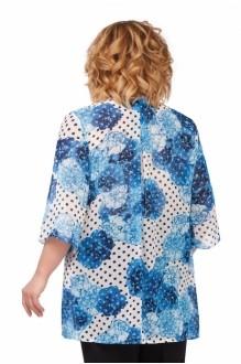 Блузки и туники *Распродажа Pretty 740 синие цветы фото 2