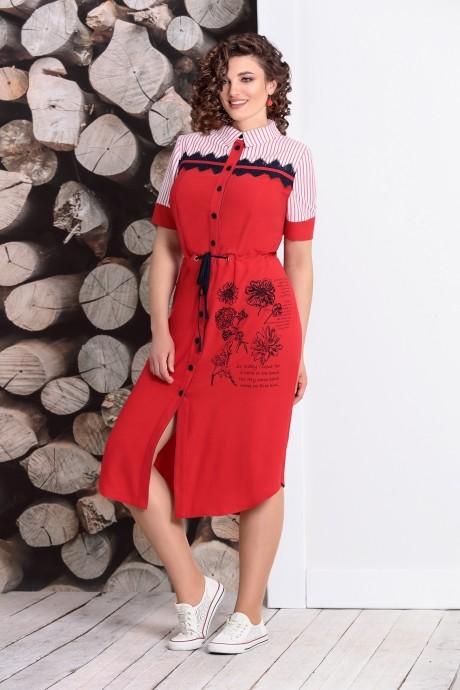 Летние платья Мублиз 338 красный