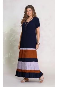 Vittoria Queen 8283 темно синий ( цвета полос – серый и рыжий)