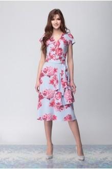 Надин-Н 1671/1 голубой в цветы