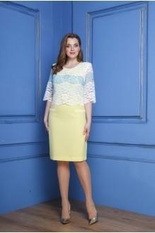 Anastasia 247 жёлтый+бело-голубая полоска