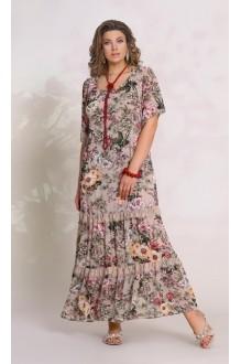 Vittoria Queen 8623 -1 цветочный принт ( беж)