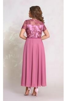 Длинные платья, платья в пол Vittoria Queen 8913 оттенок сиреневого-бордо фото 2