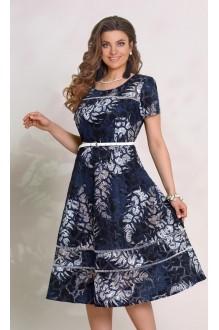 Vittoria Queen 8943 цветочный принт (синий)