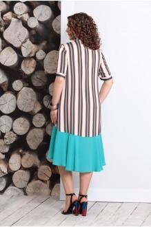 Летние платья Мублиз 358 цветная полоска фото 2