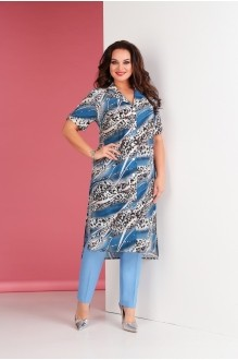 Брючные костюмы /комплекты Ksenia Stylе 1667 голубой фото 1