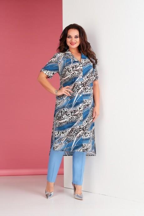 Брючные костюмы /комплекты Ksenia Stylе 1667 голубой
