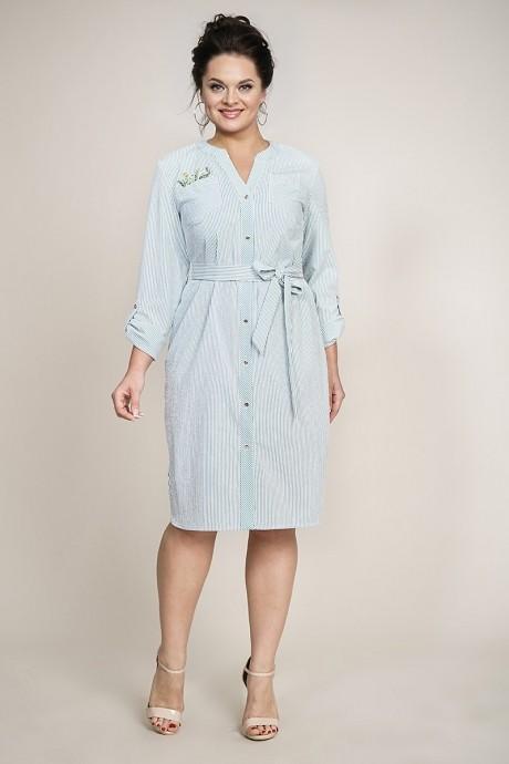 Повседневные платья ALANI COLLECTION 940 зеленый