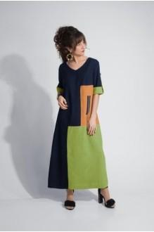 Модель *Распродажа Elpaiz 403 тёмно-синий+оранж+салат