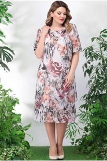 *Распродажа LeNata 11746 коричневые цветы (дефект)