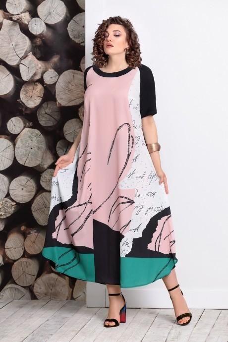 Длинные платья, платья в пол Мублиз 359 пудра