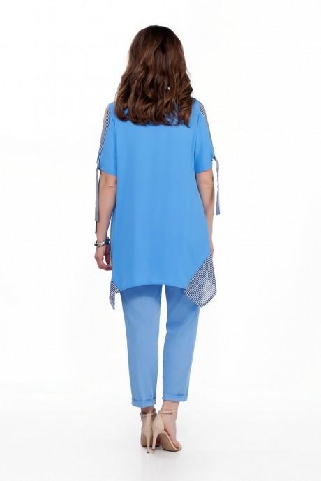TEZA 198 голубая блуза/голубые брюки