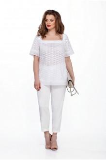 TEZA 201 белая туника/белые брюки