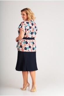 Юбочные костюмы /комплекты Swallow 183 цветочный/тёмно-синий фото 2