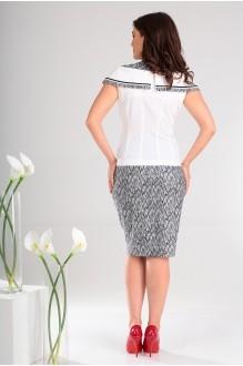 Юбочные костюмы /комплекты Мода-Юрс 2022 черный + белый узор 2 фото 4