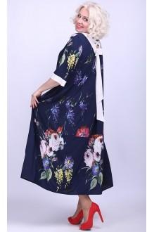 Camelia 1949/2 темно-синий в цветы