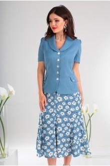 Юбочные костюмы /комплекты Мода-Юрс 1741 синий фото 2