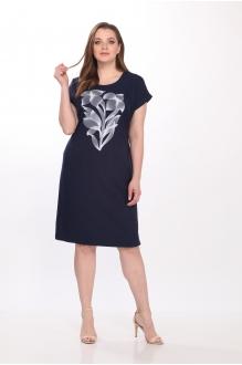 Летние платья Belinga 1036 тёмно-синий фото 1