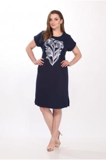 Летние платья Belinga 1036 тёмно-синий фото 2