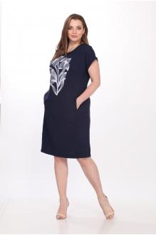 Летние платья Belinga 1036 тёмно-синий фото 3
