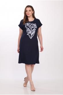 Летние платья Belinga 1036 тёмно-синий фото 4