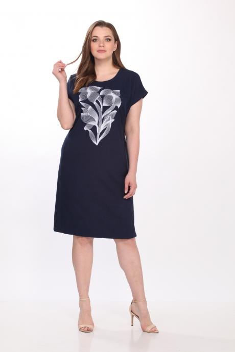 Летние платья Belinga 1036 тёмно-синий