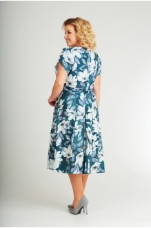 Летние платья Swallow 184 бирюзово - зелёный фото 2