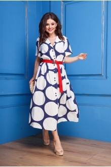 Летние платья Anastasia 303 сине-молочный фото 3