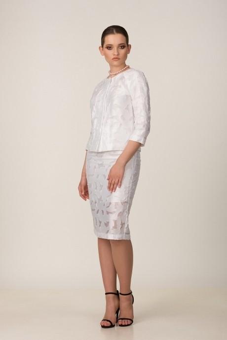 Юбочные костюмы /комплекты *Распродажа Rosheli 519 белый