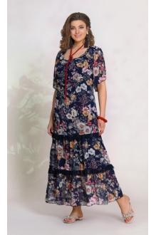 *Распродажа Vittoria Queen 8623 -2 цветочный принт (синий)