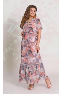 *Распродажа Vittoria Queen 9063 -1 цветочный принт (розовы)