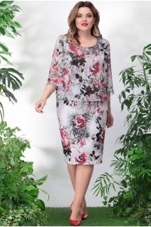 *Распродажа LeNata 11897 бордовые цветы