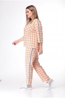 Брючные костюмы /комплекты Анастасия Мак 639 персиковый фото 2