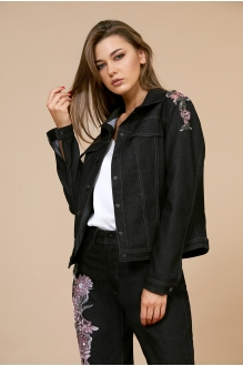EOLA 1700 чёрный с вышивкой бордо