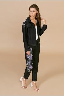 EOLA 1701 чёрный с вышивкой фиолет