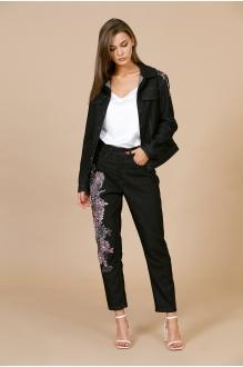 EOLA 1701 чёрный с вышивкой бордо