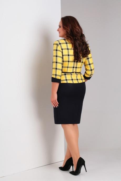 Милора Стиль 446 жёлтая клетка+синяя юбка