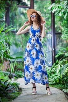 *Распродажа Euro-moda 167 голубой в ромашки