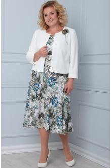Ладис Лайн 1103/1 белый+синие цветы