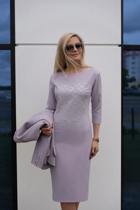 Azzara 579 полупальто светло-сиреневое + платье