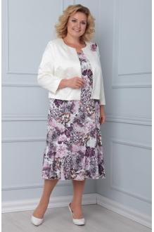 Ладис Лайн 1103/1 перламутр+розовые цветы
