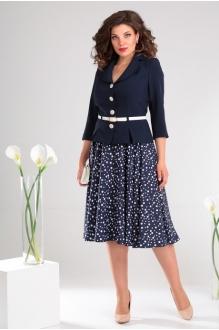 *Распродажа Мода-Юрс 2136 -1 тёмно-синий + крупный горох