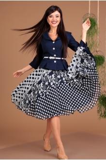 *Распродажа Мода-Юрс 2136 -1 тёмно-синий + мелкий узор