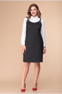 Romanovich Style 3-1846 белая блузка/сарафан в полоску