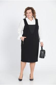 *Распродажа Pretty 604 белая рубашка/чёрный сарафан (дефект)